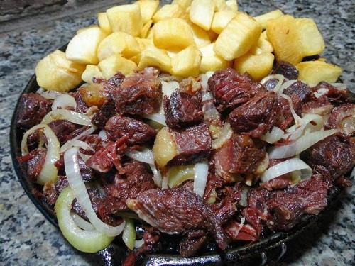 Sun dried meat