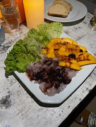 Sea bass ceviche with mango