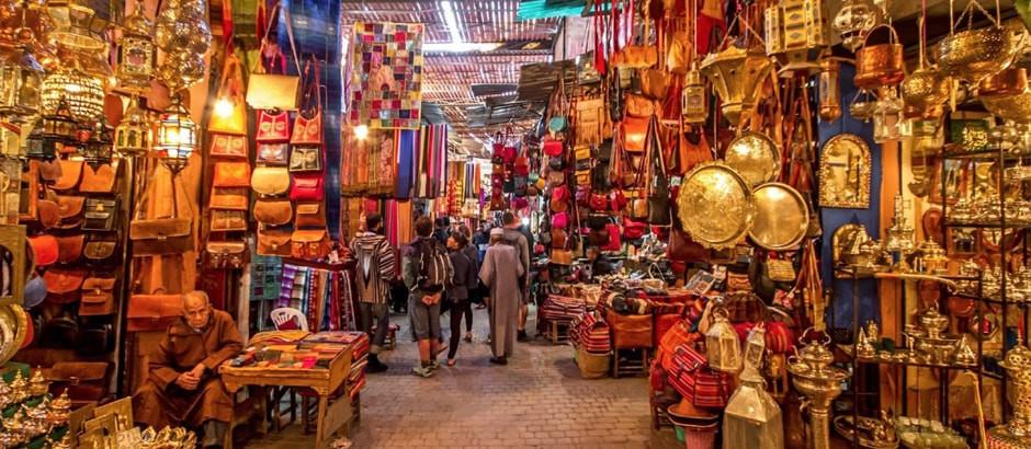 MARRAKECH, مراكش in Arabic, ⵎⵕⵕⴰⴽⵛ in Berber