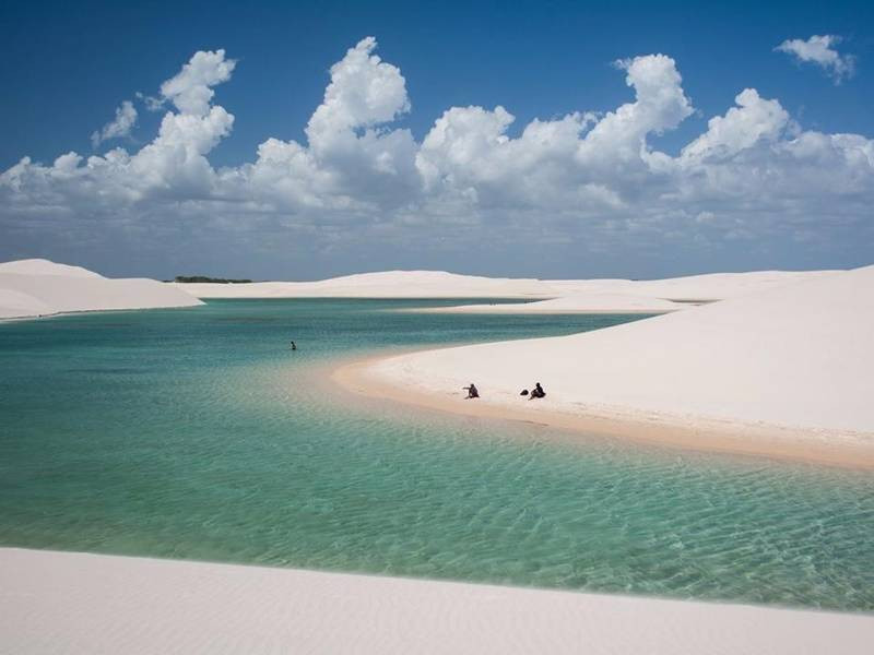 The lagoons fill between January and July...