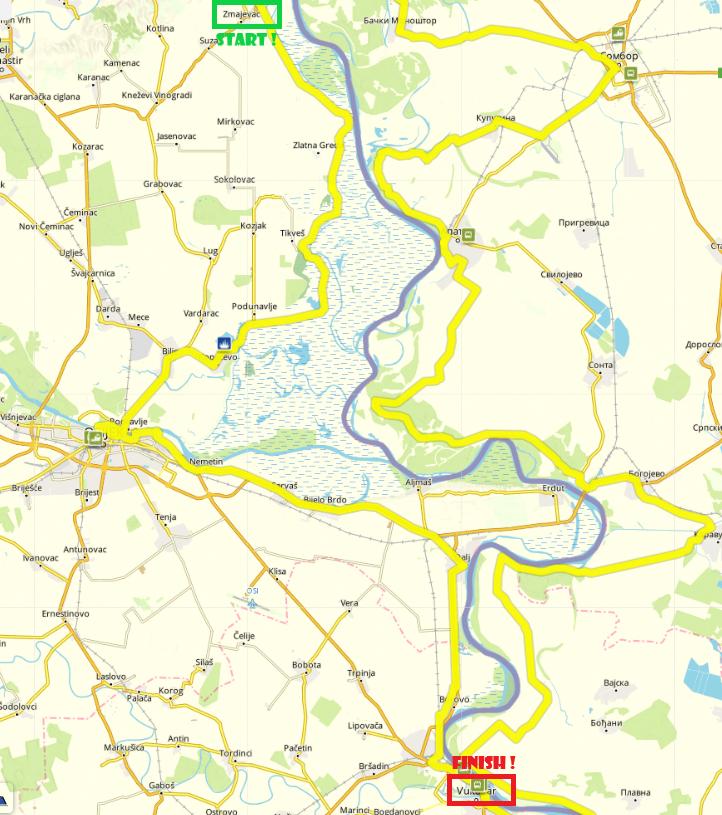 Zmajevac-Vukovar, 95 km by bike (Day 5)