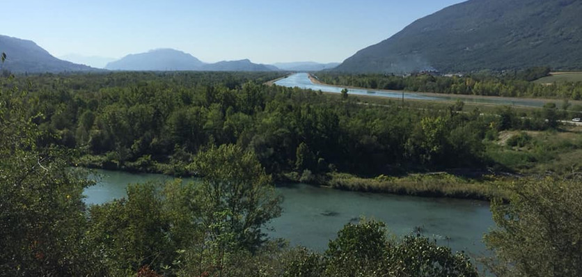 Chautagne valley, where the Rhône separates in two with the birth of the canal du Rhône (Day 2)