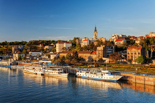The finish is in Belgrade, capital of Serbia...