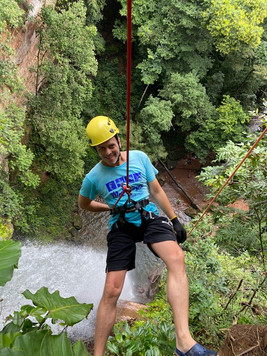 Optional 70m high abseiling at Roncadeira Waterfall, a safe and wonderful challenge, if you love adrenaline...