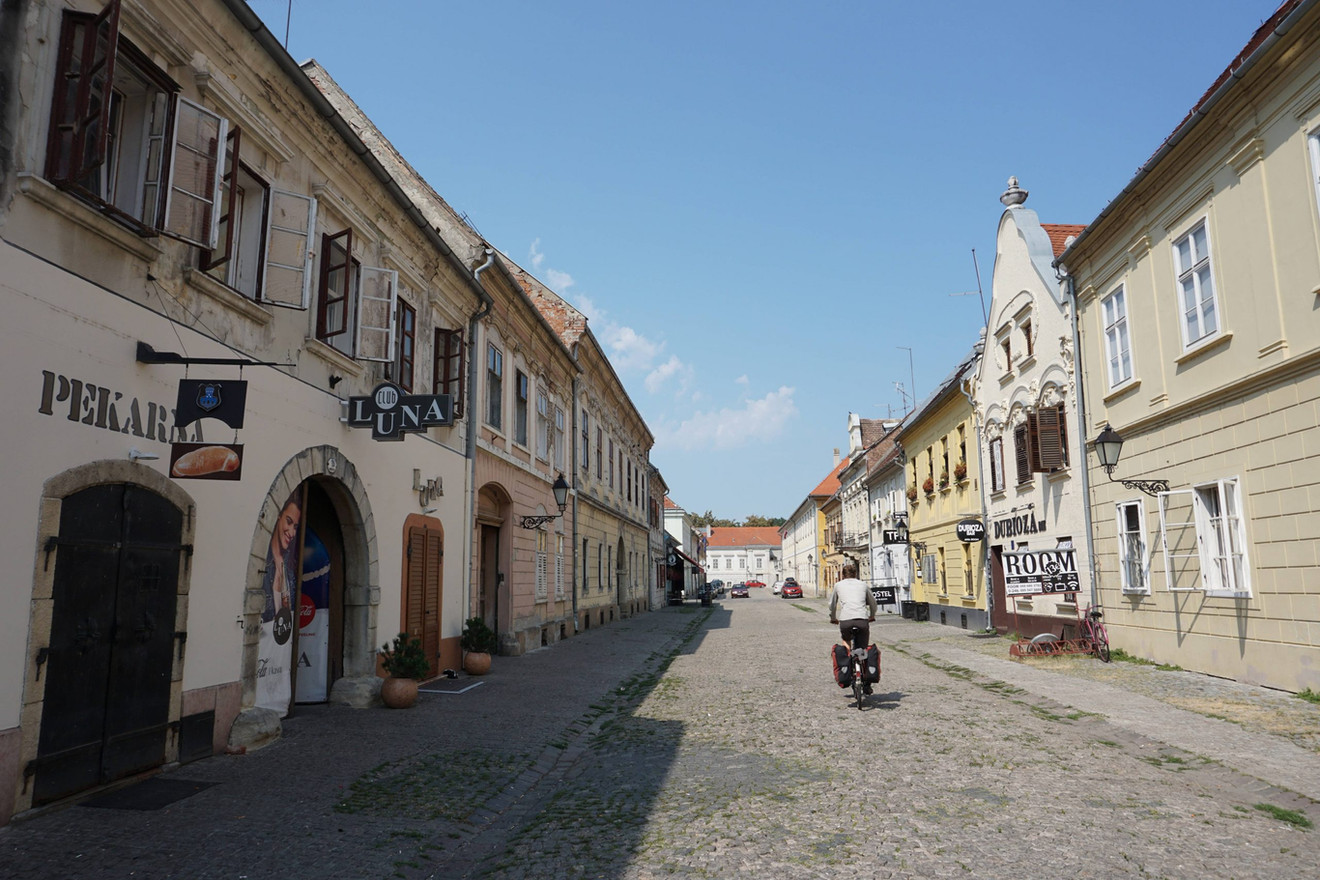 All along this bike tour, we ride across beautiful towns and villages...