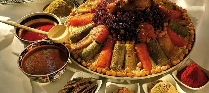 Moroccan couscous, another great Moroccan gastronomic specialty known worldwide