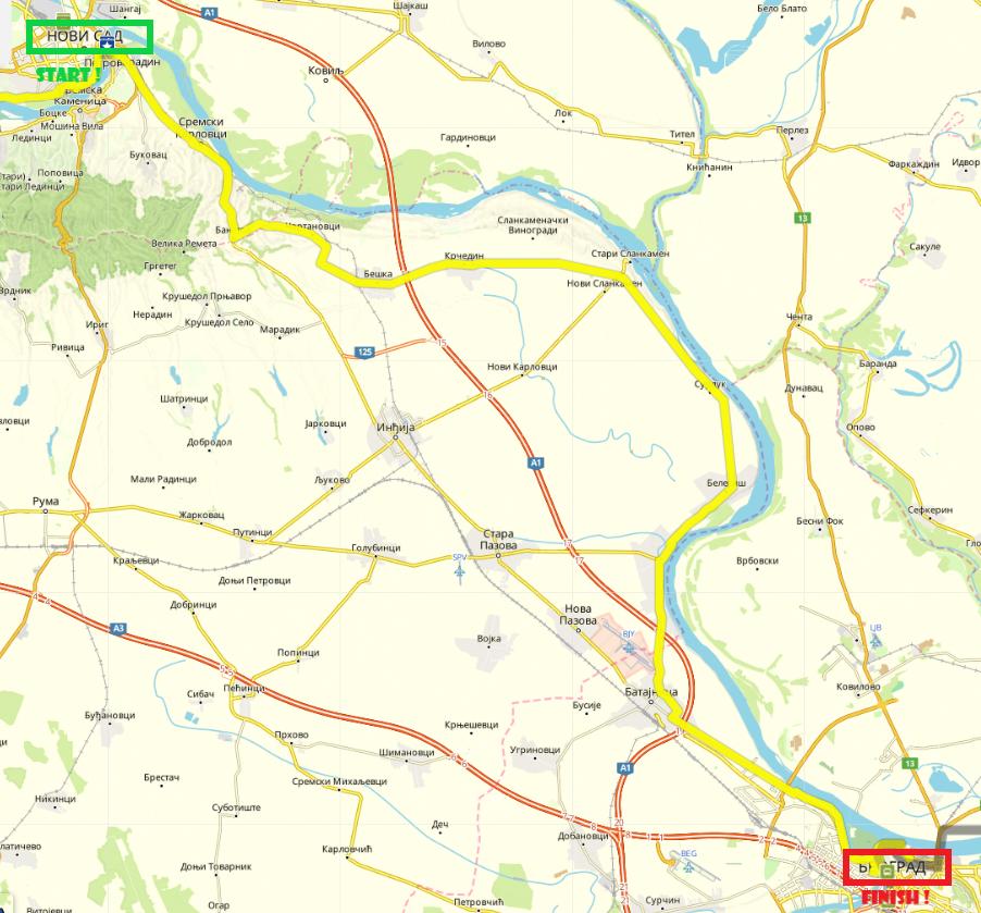 Novi Sad-Belgrade, 100 km by bike (Day 7)