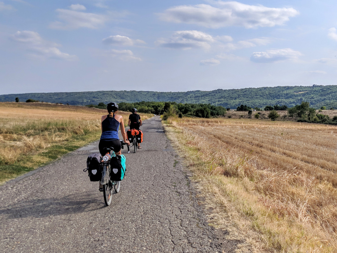 Our Budapest-Belgrade bike tour is partly on asphalt...