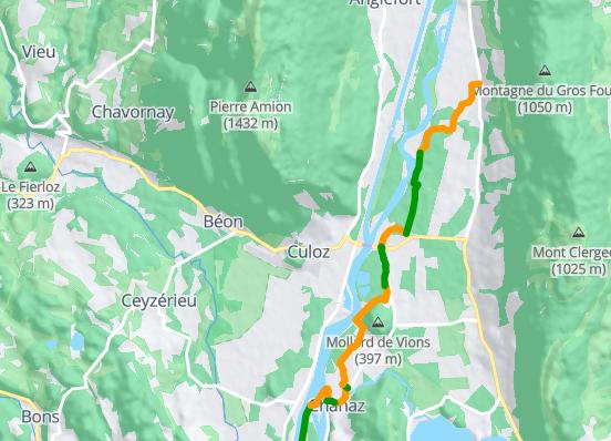 D2 - Seyssel-Belley via Chanaz (33,2 km)
