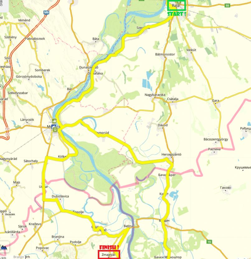 Baja-Zmajevac, 79 km by bike (Day 4)