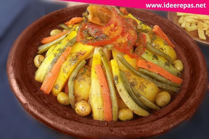 Vegetarian tagine with vegetables