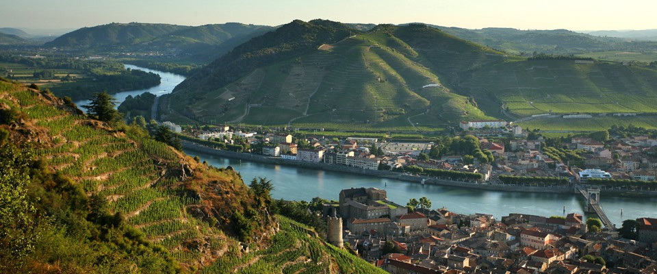 Between Vienne and Avignon, the Rhône winds between hills, vineyards, small medieval towns,... What a beautiful route !