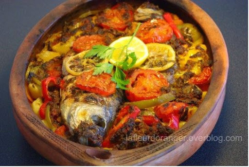 Fresh baked fish, Moroccan style