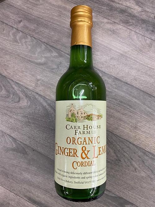 Organic ginger & lemon cordial