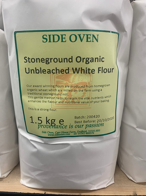 Organic stoneground unbleached white flour