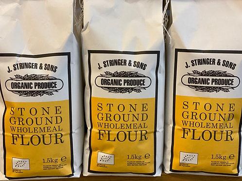 Organic stoneground stringer wholemeal flour