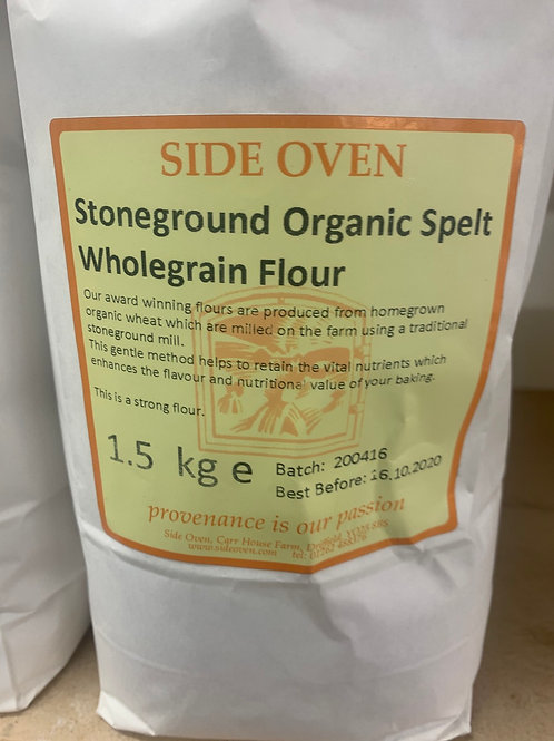 Organic stoneground whole grain spelt flour