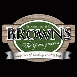 Brown Logo on Black
