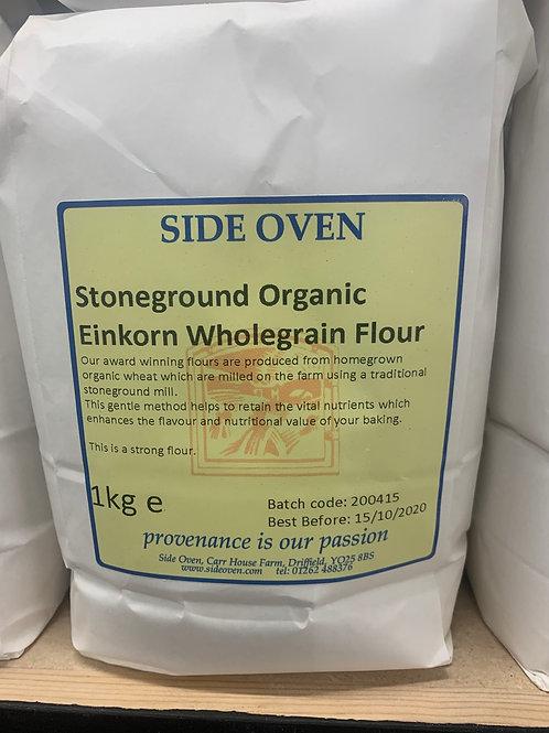 Organic stoneground whole grain einkorn flour