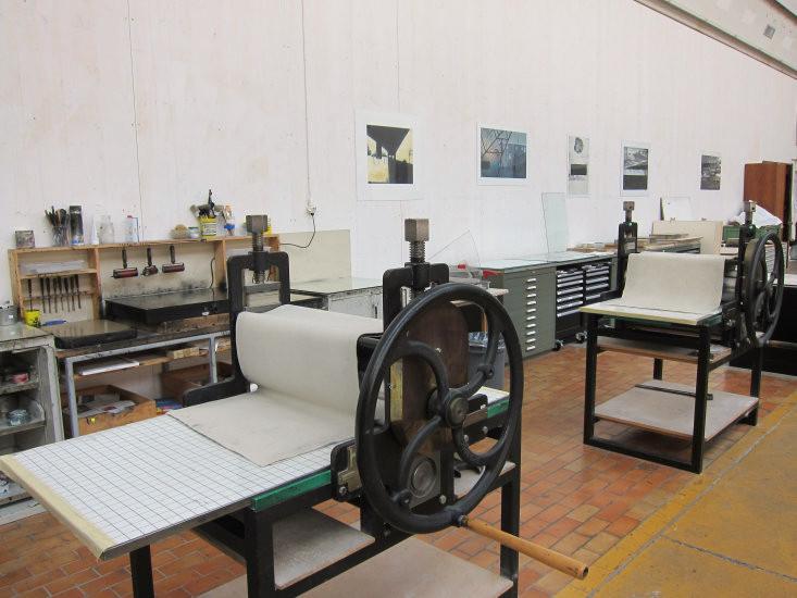 Brunner Pressen im Druckatelier der HKB