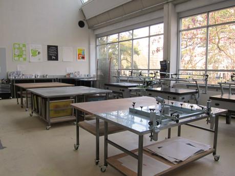 Siebdruckbereich Druckatelier HKB