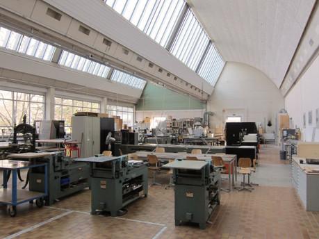 Hochdruck und Tiefdruck im Atelier der HKB