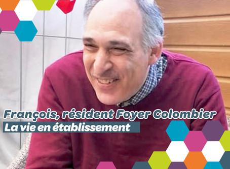 François, résident du Foyer Le Colombier