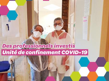 Création d'une unité de confinement COVID-19