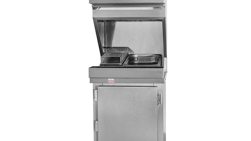 Estufa para salgados com geladeira inferior