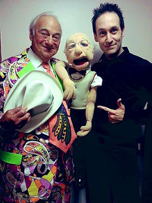 Roy Hudd with Steve hewlett.jpg
