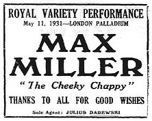 1931 Royal Variety ad.jpg