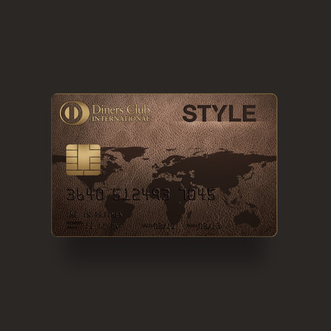 Diners Style credit card design
