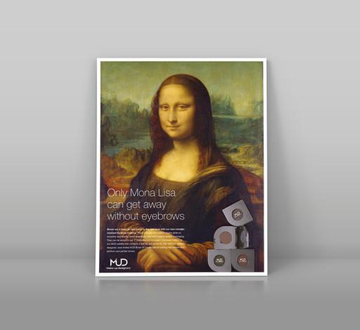 Magazine ad for eyebrow creams