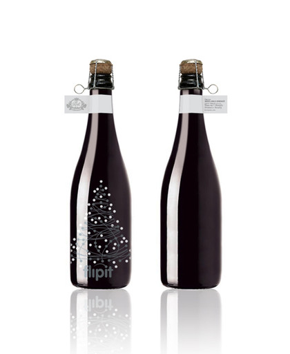 FlipIT sparkling wine label