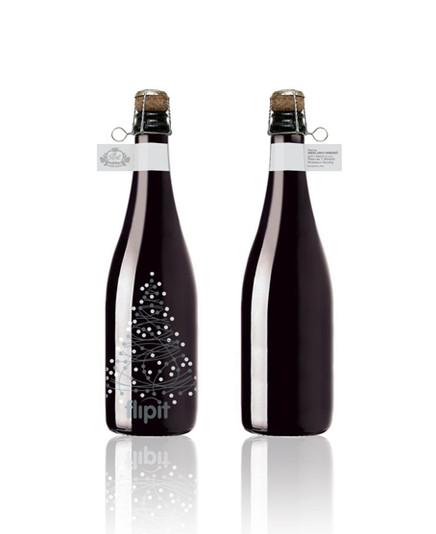 FlipIT sparkling wine label