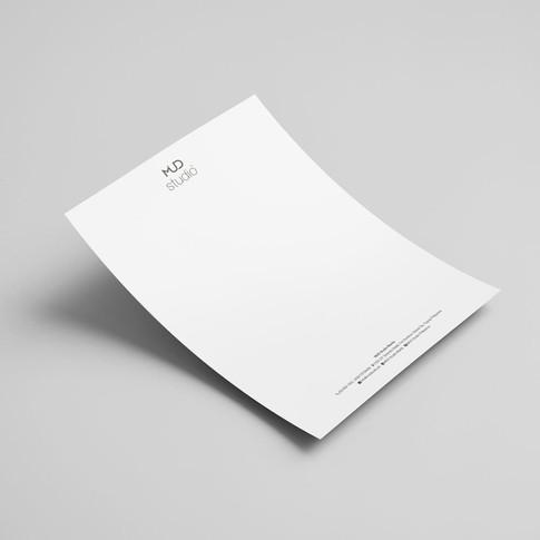 MUD Studio letterhead