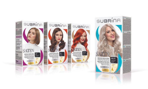 Hair Colour packaging design