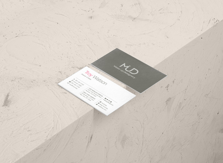 Make-up Designory business card