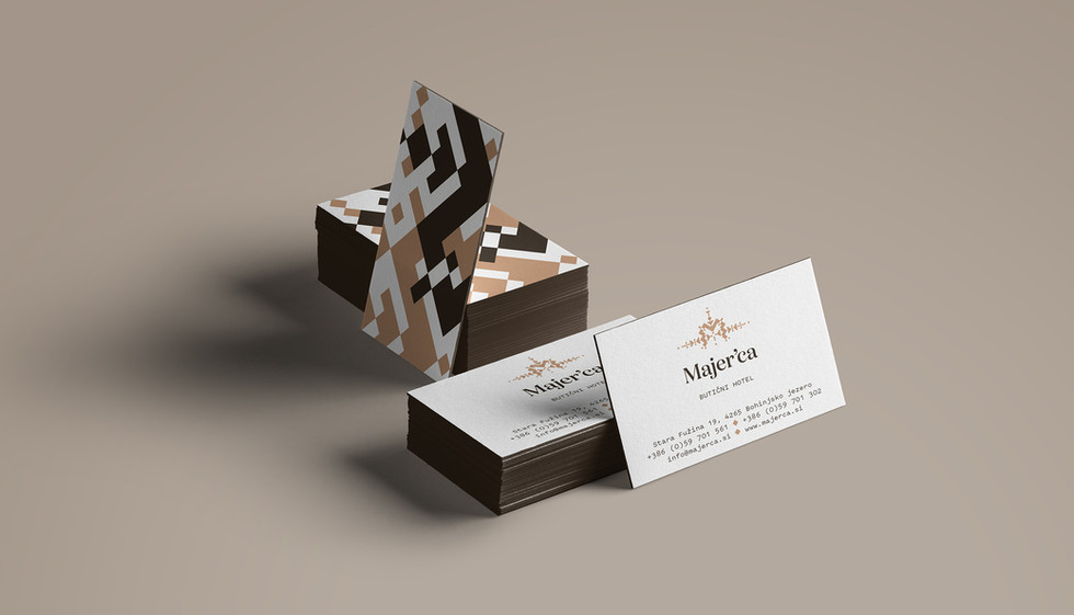 Business card for Hotel Majerca