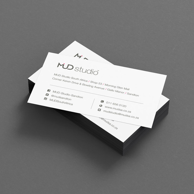 MUD Studio business card