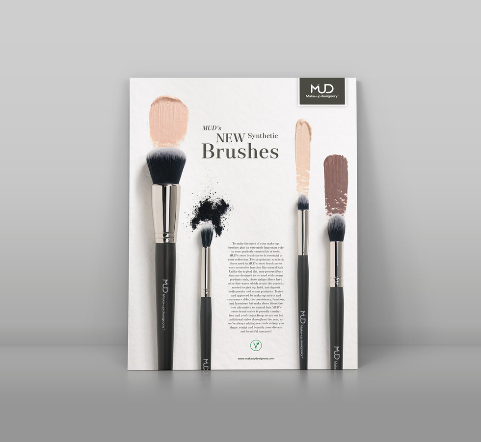 Ad for new synthetic brushes