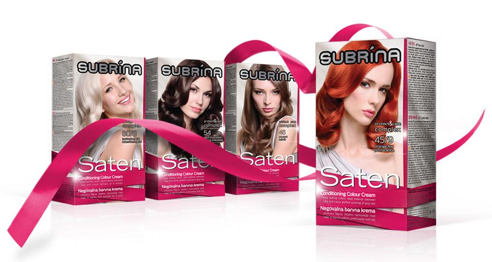 Packaging design for Subrina Saten Haircolours