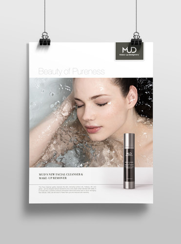 Ad for MUD Facial Cleanser