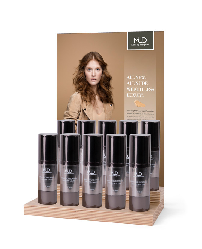 Liquid Foundation Counter Display