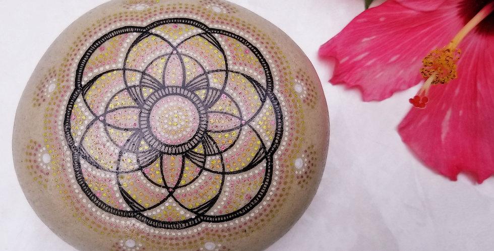 *SOLD*Mandala Meditation Stone #479