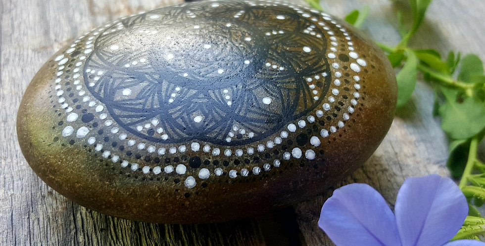 Mandala Meditation Stone #442
