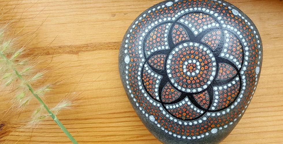 *SOLD* Mandala Meditation Stone #3917