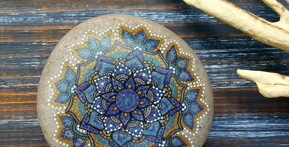 *SOLD* Mandala Meditation Stone #411