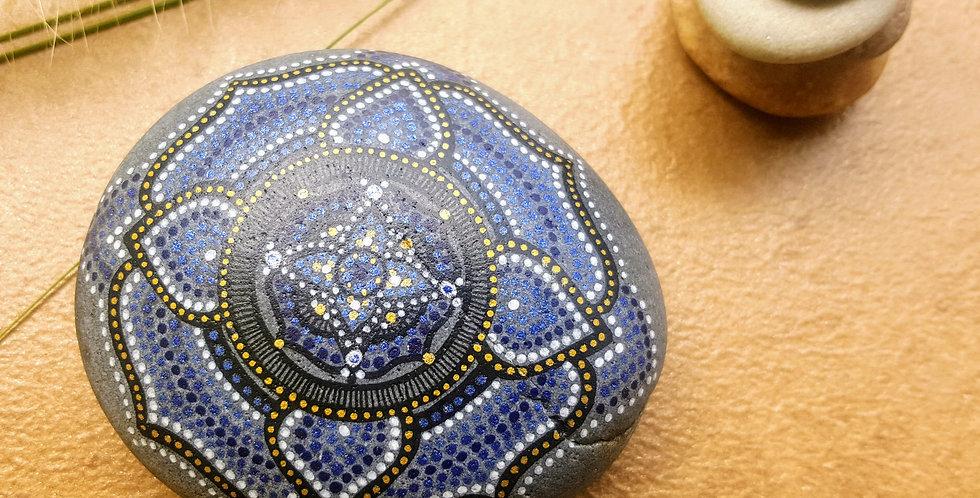 *SOLD*Mandala Meditation Stone #407