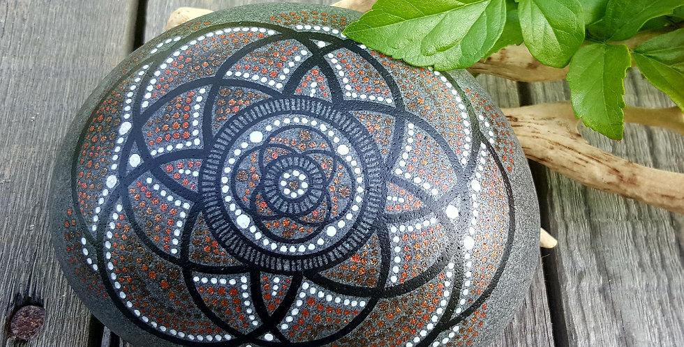 *SOLD*Mandala Meditation Stone #3917